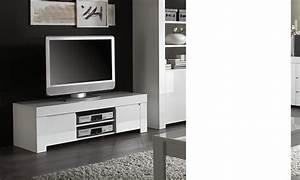 Meuble Tv Design Blanc Laqué : meuble tv design blanc laqu aphodite disponible en 2 dimensions ~ Teatrodelosmanantiales.com Idées de Décoration