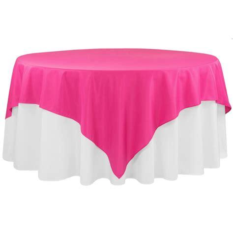 "Economy Polyester Tablecloth 90""x90"" Square Fuchsia CV"