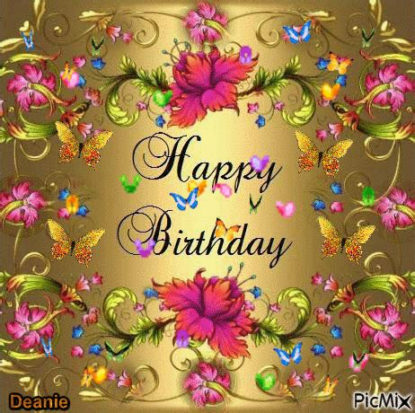 Happy Birthday Animated Images Colored Butterfly Happy Birthday Animation Pictures