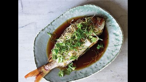 chinese style steamed fish  ginger  shallots