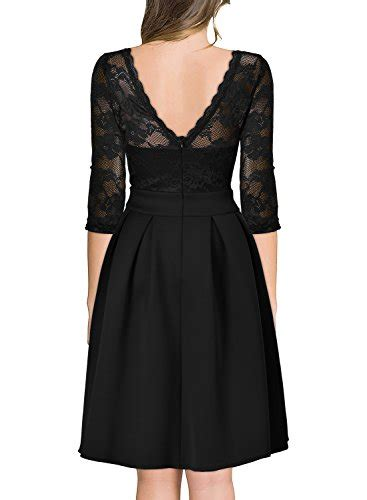 miusol womens vintage floral lace  sleeve bridesmaid