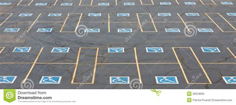 handicap parking spaces stock photo image