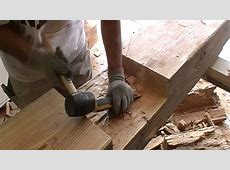 Cutting Out The Half Lap Joint YouTube