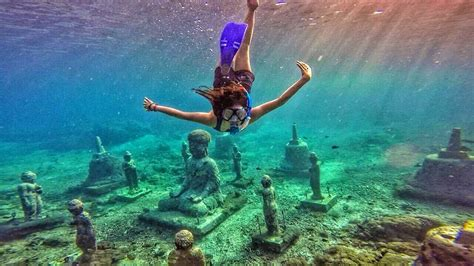snorkeling  obyek wisata patung budha nusa penida
