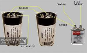 Wiring Capacitors For Baldor Vl1309 Air Compressor Motor