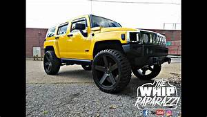 Yellow Hummer H3 On 24quot Dub Ballers On 35quot Mud Tires YouTube