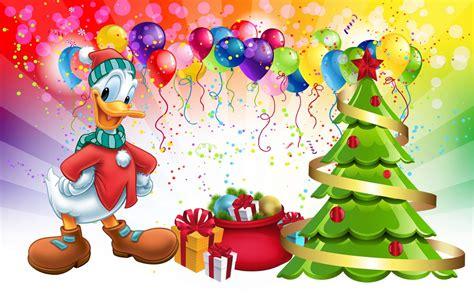 donald duck christmas tree gifts desktop hd wallpaper