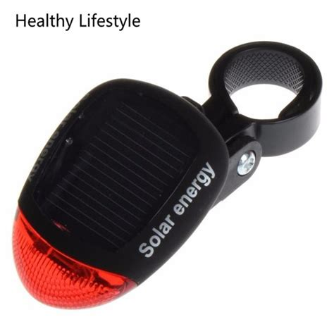 bike light solar powered led rear light for