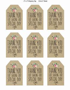 printable wedding favor tags thank you printable tags With how to print tags for favors