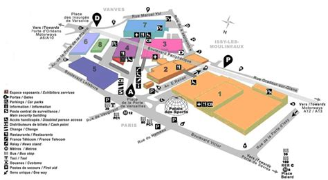 porte de versailles exhibition center schedule metro map