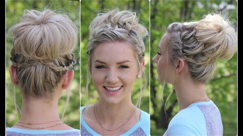 waterfall bun updo hairstyles
