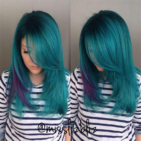 Mermaid Hair Coloured Hair Hair Purple Hair Hair Colour