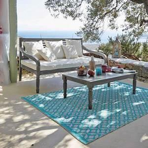 des meubles deco pour l39amenagement de sa terrasse With tapis de sol avec maison du monde canapé 3 places