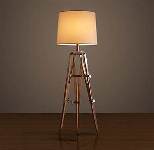Restoration hardware surveyors tripod floor lamp decor for Surveyors floor lamp wood