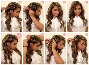 Coiffure Pour Noel : tuto coiffure simple cheveux mi long ~ Nature-et-papiers.com Idées de Décoration