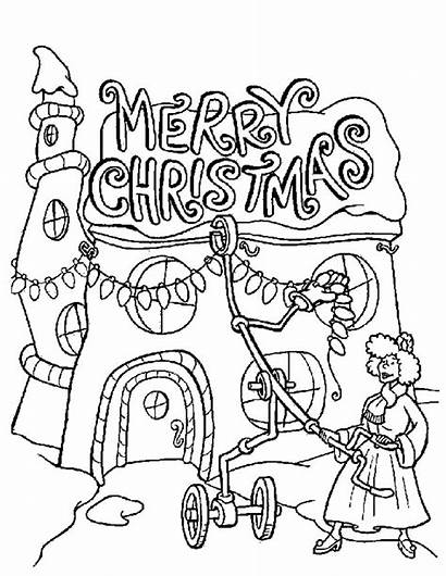 Christmas Lights Coloring Whoville Merry Pages Grinch