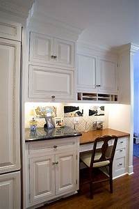 Kitchen desk area ideas kitchens pinterest for Kitchen design for small areas