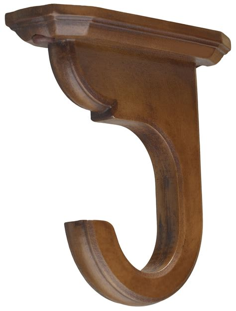 wooden curtain rod holders wooden curtain pole brackets