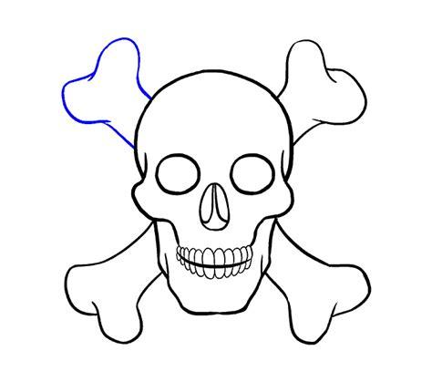 draw  skull step  step tutorial easy drawing