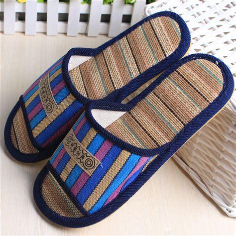 summer open toe linen house slippers indoor flooring slippers home slippers for men jpg