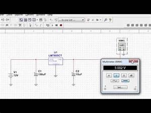 Voltage Regulator Ic Connection In Multisim