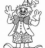 Clown Coloring Printable Getcolorings Colouring sketch template