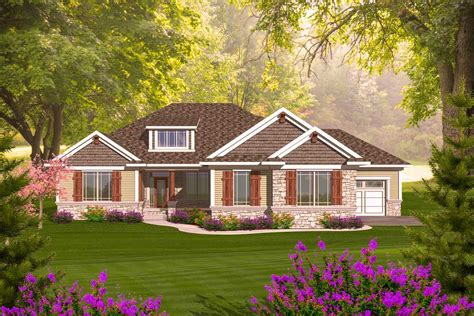 At this time, we need to bring some imageries for your awesome insight, we can say. Craftsman Ranch With Walkout Basement - 89899AH ...