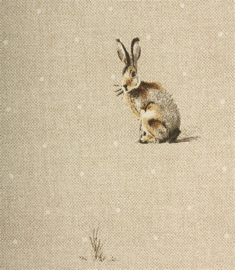 Harry Hare Fabric / Natural   Just Fabrics