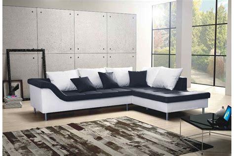 canapé d angle et noir canapé d 39 angle design elvis convertible noir et blanc