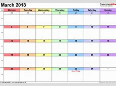March 2018 Calendar With Holidays UK monthly printable