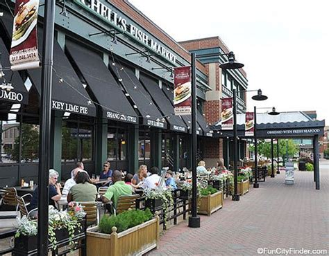 clay terrace restaurants outdoor diners at mitchell s fish market and restaurant in