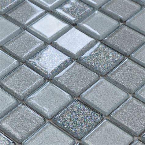 Kitchen Tile Backsplash Designs - gray crystal glass mosaic tiles design kitchen bathroom backsplash wall floor stickers