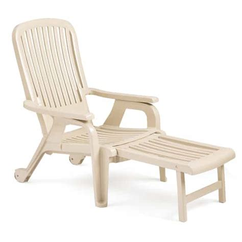 bahia stacking deck chair sandstone 4 pack by grosfillex