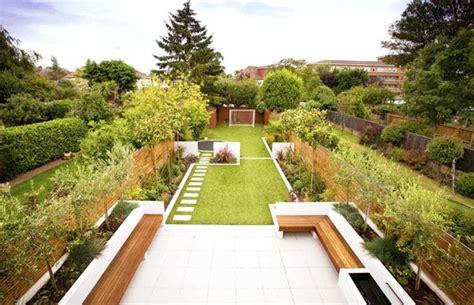 creative ideas   long narrow garden design