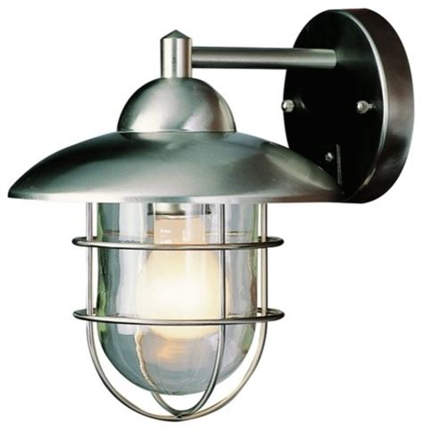 bel air lighting stainless steel outdoor wall light lowes
