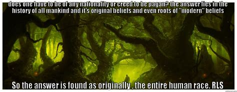 Pagan Memes - the pagan meme superimposed on painting pagan forest by dominus quot quickmeme