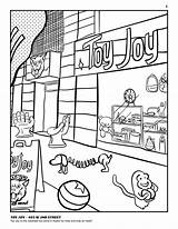 Coloring Pages Store Toys Toy Template Towers sketch template