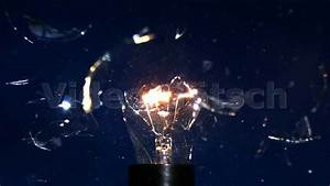 Slow motion exploding light bulb explodierende