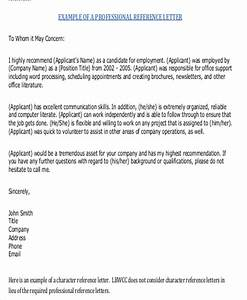 Free 7 Sample Generic Letter Of Recommendation In Ms Word
