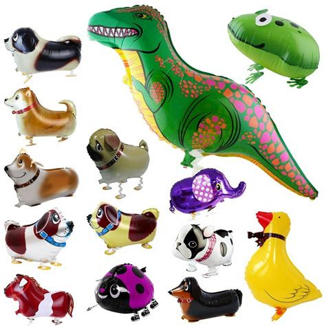 animal kids walking foil pet balloon helium children party
