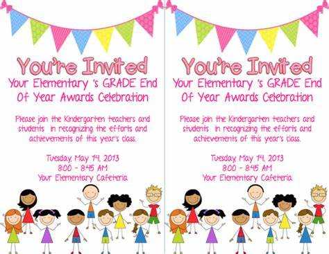 end of school year celebration invitation so with the