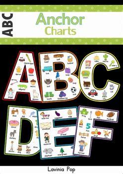 alphabet anchor charts  lavinia pop teachers pay teachers