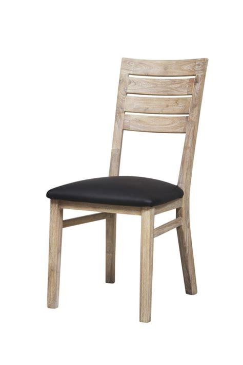 promo chaises salle manger chaise sejour praha acacia blanchi