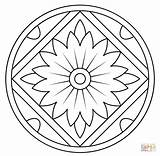 Coloring Mandala Pages Pattern Kaleidoscope Floral Printable Mandalas Print Drawing Getdrawings Dot Colorin sketch template