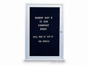 enclosed changeable letterboard 24quot x 36quot With changeable letter board