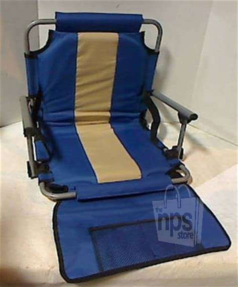 padded folding stadium bleacher chair backpack with arm