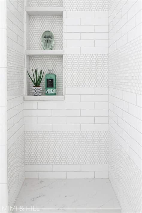 bathroom shower subway penny tile bathroom shower tile