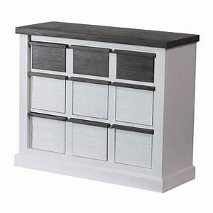 Sideboard Weiß Braun : sideboard loft in akazie massiv wei braun ~ Whattoseeinmadrid.com Haus und Dekorationen