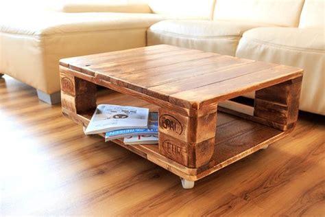 Tisch Aus Holzpaletten ᐅ couchtisch aus europaletten selber bauen ideen