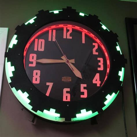 electric wall clock with light images